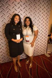 Jessica Brooks, CEO & Executive Director, PBGH, with keynote speaker, Melissa Harville-Lebron, NASCAR's first African-American woman team owner.